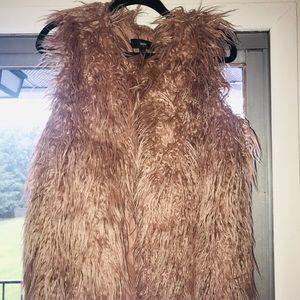 Mauve Fur vest
